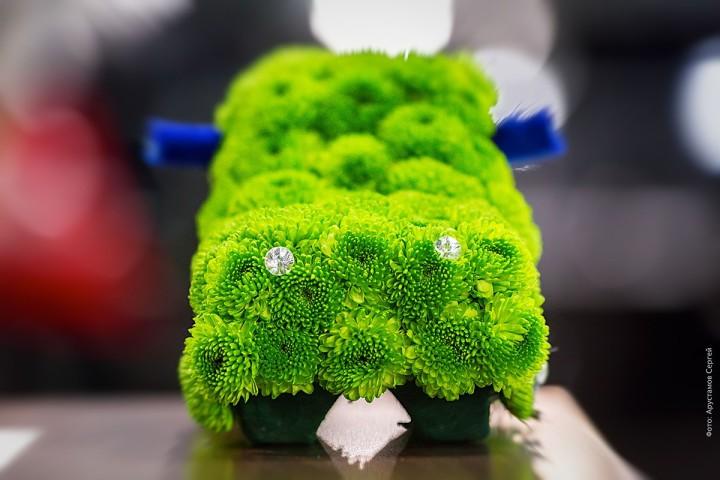 Машины из цветов для «Звезда Столицы Каширка»